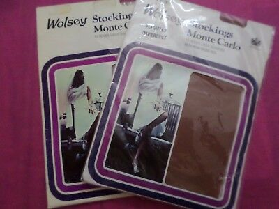 2 Pairs Vintage Stockings From Wolsey Monte Carlo  Size B (9,5-10) 15 Denier