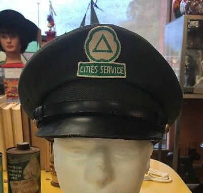 Vintage Cities Service Gas Station Attendant Hat
