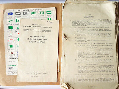 Civil Defence Corps documents - mixed lot - 1960s Cold War nuclear Bucks
