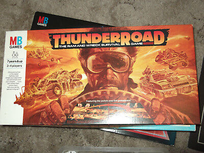 Mb Games Thunderroad - The Ram And Wreck Survival Game - 1987 Board Game