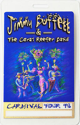 *** JIMMY BUFFETT *** 1998 LAMINATED BACKSTAGE PASS - CARNIVAL TOUR - with foil