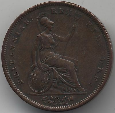 1826 George IV Penny***Collectors***High Grade***