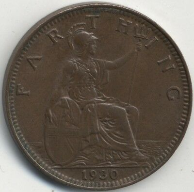 1930 George V Farthing***Collectors***High Grade***