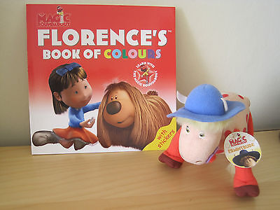 "Magic Roundabout Ermintrude 6"" Soft Toy Used and Florence's Book of Colours New"