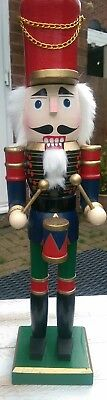 Nutcracker Soldier Drummer Christmas Deluxe Edition Large 52Cm X 12Cm Bnwt