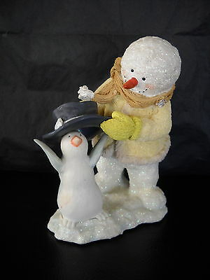 "Russ Ice Sculpture Figurine Snowman & Penguin ""top Hat"" Style #23021"