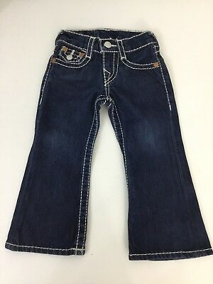 True Religion Billy Big T Boys Jeans, Size Age 2 Years, Denim Blue, Vgc