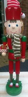 Nutcracker Soldier Christmas Santa's Elf Deluxe Limited Edition Large 52Cms New