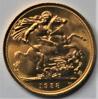 1958 UK full gold sovereigh - excellent condition