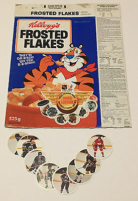 1984 Kellogg's Hockey Picture Puck Cereal BOX Premium & Cards Vtg NHL Rare