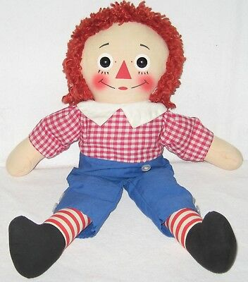 "Vintage 1963 Knickerbocker 17"" Raggedy Andy Doll***very Clean***"