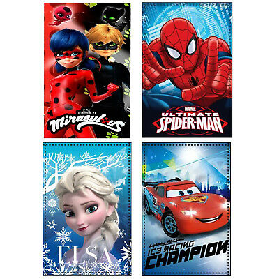 Spiderman Frozen Cars Miraculous Ladybug Children's Cartoon Characters Blanket
