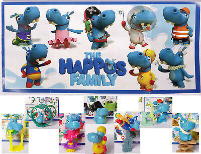 NEW set of THE HAPPOS FAMILY 2017 Kinder Surprise collection from Russia + BPZ