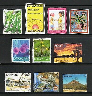 Botswana -- 10 different used commemoratives from 2001-05 -- catalog $8.20