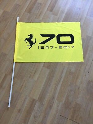 Ferrari 70th Anniversary Limited Edition Large Yellow Parade Flag