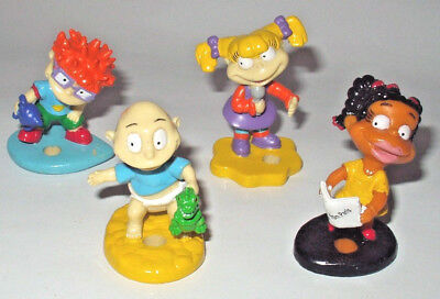 Vintage Rugrats 4 X Figure Figurine Set Lot Chuckle Angelica Susie Tommy 1990S