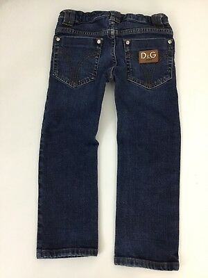 Dolce & Gabbana D&G Boys Slim Fit Jeans, Size Age 4 Years, Dark Blue, Vgc