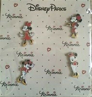 Disney Minnie Mouse Fierce Fashion Glamour Booster Set - 4 Pins -New on Card