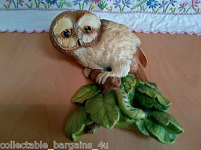 Beautiful Rare Bossons Chalkware Wall Plaque of an Owl