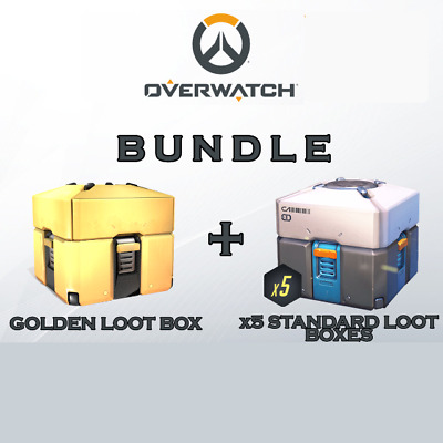 Golden loot box Overwatch + x5 standard loot boxes - October - PC/XBOX/PS4