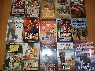 Lot of 15 western paperback books