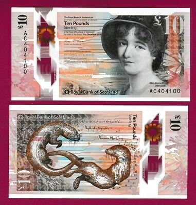 Royal Bank Of Scotland - £10 - Polymer - Unc - Issued 4 October 2017 *qwc*