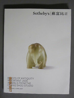 Sotheby 4/5/17 antique Carved JADE animals from the Chang Shou Studio