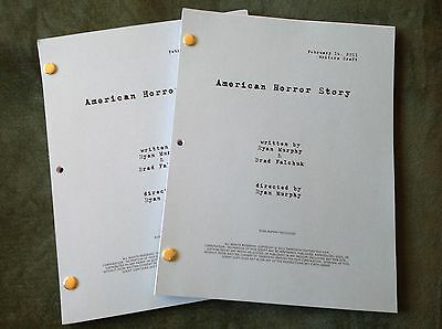 American Horror Story TV SHOW Pilot Script 2/14/2011 Jessica Lange Color Covers