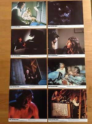 The Howling LOBBY CARDS x 8 FOH Stills UK Dee Wallace Original 10 x 8 inches