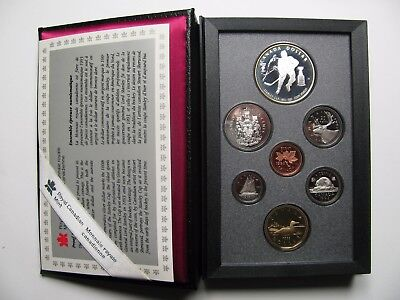 1893-1993 Proof Double Dollar Set 100th Ann Stanley Cup Canada