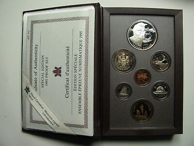 1995 Sp Ed Proof Set Canada 325th Ann Hudson's Bay Co w/ Peacekeeping loonie