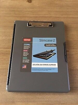 New Dexas Slimcase 2 Storage Clipboard with Side Opening in Gray USA