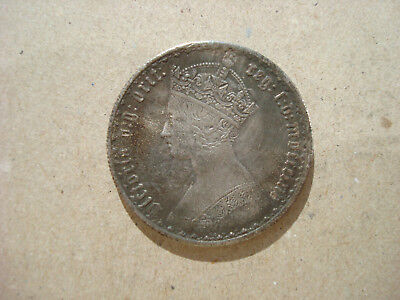 Gothic Florin Two 2 Shillings Queen Victoria Britain UK British