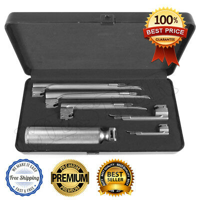 Miller Laryngoscope Set 5 Blades & 1 Handle Diagnostic Surgical Instruments