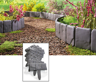8 Foot Long Interlocking Faux Stone Border Edging