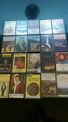 20 MUSIC CASSETTE ALBUM TAPES MIXED ARTIST  classical soft easy listening