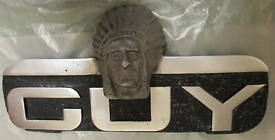 Genuine Guy Motors Indian Chief mascot lorry or bus. Feathers in our cap. Long