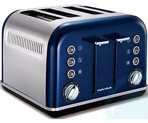 Morphy Richards Blue 4 Slice Toaster - 242024