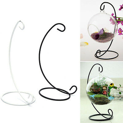 """23cm 9"""" Iron Plant Stand Holder for Clear Glass Hanging Vase Home Decor C+"""