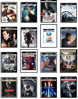 Four (4) Movies Bundle*** 4K UHD Mix-n-Match: Action, Sci-Fi, Drama, Comedy ...