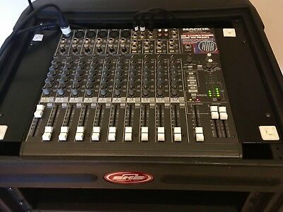 Mackie 1402 Mixer In SKB case with ART Reverb FX