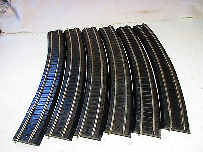 6 Sections Vintage 1939- 1942  Lionel Oo Gauge  Curved Track. All In Excellent C