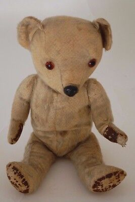 Vintage Teddy Bear Mohair with Leather Paws
