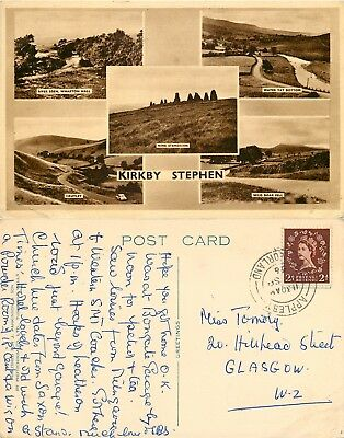 s10734 Kirkby Stephen, Cumbria, England postcard posted 1956 stamp