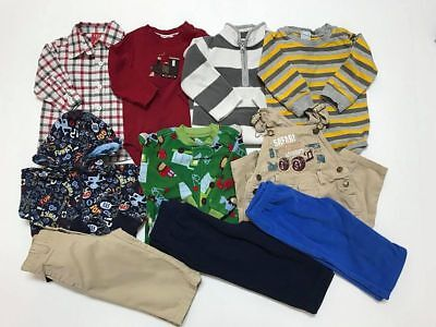 LOT OF 10 PCS MIX FALL/WINTER CLOTHES , BABY BOY'S 12-18 Months