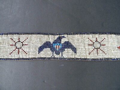 Antique Native American Indian Beaded Belt