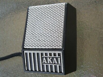 60s VINTAGE AKAI JAPAN ADM-2 50KΩ DYNAMIC METAL PRO-AUDIO MICROPHONE WORKS GREAT