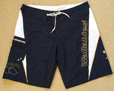 NWT Australia Wallabies Rugby Union Board Swim Surf Shorts - Mens 38 Canterbury