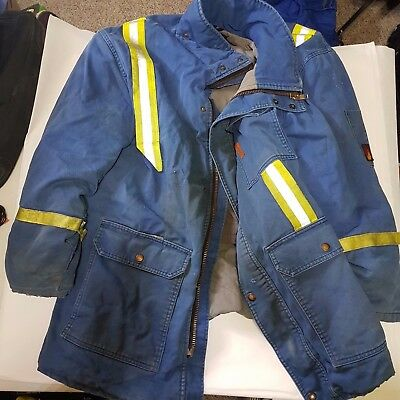 Fire Retardant Quilted CSA Parka Oilpatch Blue HiVis Performance Apparel Canada