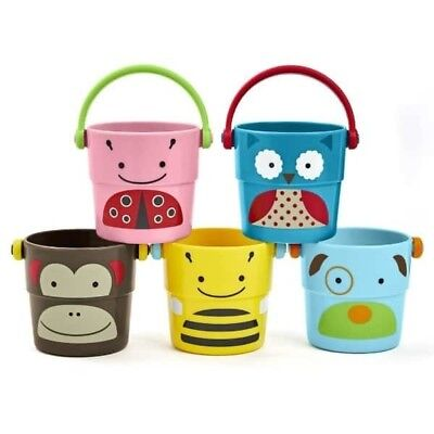 NEW Skip Hop Zoo Stack & Pour Buckets Baby & Kids